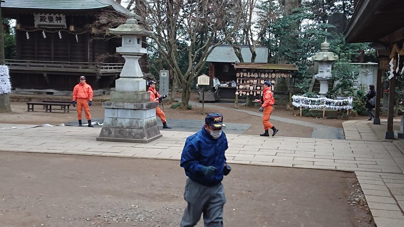 文化財防火デーによる消防訓練