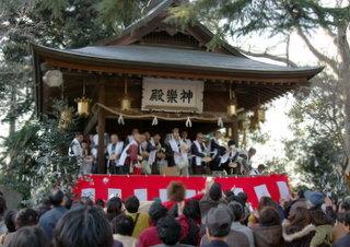 茨城県下妻市の神社関東最古の八幡さま節分祭